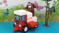 百变熊出没玩具 88 熊出没熊大益智积木趣味拼装变形工程车