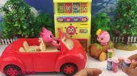 铭涵宝贝萌鸡小队玩具 萌鸡小队朵朵玩转自助饮料售货机玩具