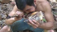 野趣之家, 用超酷的弩捕捉火鸡, 在森林烹饪超大火鸡