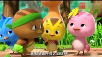 《萌鸡小队》: 三只小萌鸡花样大变身, 被鸡妈妈瞬间识破, 真搞笑!