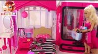 芭比公主买鞋店买衣服成购物狂 小公主依旧粉红少女心!