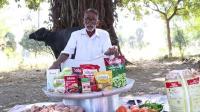 印度老爷爷户外美食系列, 做了一大锅咖喱鸡, 这技术都可以开店了