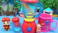 糖糖猪猪侠玩具 46 猪猪侠玩朵拉水果机 给花园宝宝榨果汁