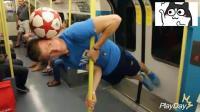 外国小哥的疯狂花式足球, 这波撩妹技能不错