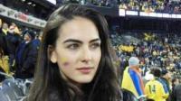 世界杯第一美女! 哥伦比亚名模观赛照爆红网络  网友: 神似迪丽热巴