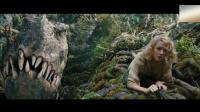 超级大猩猩为救美女对战三条霸王龙, 非常经典, 刺激的