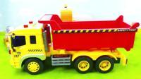 卡通工程车翻斗车玩具 儿童趣味玩具车