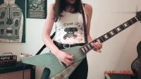 国外美女电吉他solo演奏, 琴真是不错