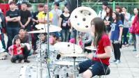 台湾女架子鼓神, 罗小白打曾经经典《小苹果》架子鼓!