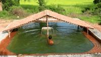 野外徒手建造大型游泳池, 夏天避暑纳凉最佳选择, 太完美了!