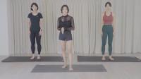 3个小妹妹练习下蹲开胯,谁练习的最到位?瑜伽每个体式都很有用