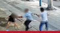 男子当街持刀伤人,路边门店老板挺身而出!#传递正能量 #新闻 #社会热点