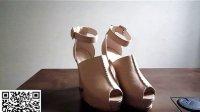2013春季新款韩版潮粗跟高跟女鞋全真皮超高跟鱼嘴防水台凉鞋包邮