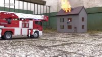 BURNING HOUSE RC FIRE FIGHTERS SCALE MODEL 2013