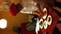 意大利经典头盘蜜瓜火腿奶酪茄子塔制作全过程