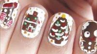 可爱饼干人 圣诞美甲