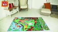 lalababy官方旗舰店 小猫钓鱼游戏爬行地垫