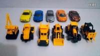 最新挖掘机表演视频 工程车玩具PK汽车玩具总动员 挖掘机挖土机搅拌机消防车压路机 玩具跑车奔驰宝马法拉力奥迪 亲子益智小游戏