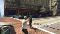【肥皂解说】GTA5线上模式多人试玩 侠盗猎车手5 冲出重围 真人版我的世界