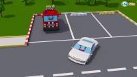 跟车卡车学颜色数字  3D动画早教卡通