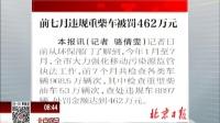 北京日报:前七月违规重柴车被罚462万元 北京您早 170919