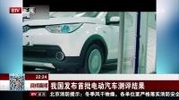 晚间新闻报道20171226我国发布首批电动汽车测评结果 高清