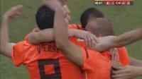 6月14日世界杯小组赛E组 荷兰2:0力克丹麦 全场回放 现场-丹麦球员西蒙鲍尔森与队友离奇配合制造首粒乌龙