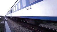彩塘论坛,广梅汕铁路彩塘段大寮道口我的精彩火车视频拍到的调机回来的花老虎牵引客列