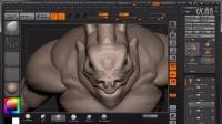 【ZBrush雕刻】结合Maya制作风格化怪物流程教学-06-Head Sculpting 01