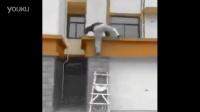 【冯导】经典被损友玩死,下梯子恶作剧