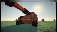 环境的Minecraft TNT 爆破之豹式坦克