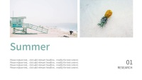 【盛夏】夏日清凉海蓝色系通用PPT模板
