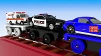 城市交通工具 学习乘坐公交车 消防车的作用 为儿童学习颜色007