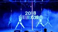 昆明钢管舞印玛舞蹈学校2018狂欢晚会钢管舞表演《Drops》