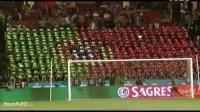 葡萄牙球迷碉堡了!平板电脑拼出国旗