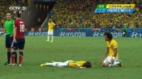 2014巴西世界杯每日进球淘汰赛 [受伤]内马尔重伤被紧急送医 椎骨骨裂告别世界杯 140705