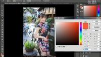 PS教程照片美眉瞬间变日本明治时期色彩效果,穿越古代哦可爱的么么哒