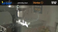 3-Vortex Machining 4340 Alloy Steel with Iscar Finishred Tools