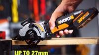 威克士20伏锂电电锯wx523 家用diy电圆锯 木工锯 装修电动工具