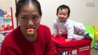 happy face 面包超人 2016 宝宝和妈妈玩面包超人 放入口中 104