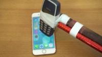 诺基亚3310猛砸iPhone 7哪个比较硬?