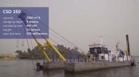 达蒙CSD350采砂船工作 (10播放)