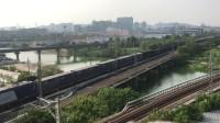 【2017.07.26】电力36441次 通过沪昆线红宝石家具市场楼顶 HXD3C0125