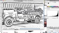 [Ai]Illustrator由图片创建黑白上色图 AI视频AI教学 群16309306