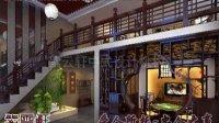 中式茶楼设计装修,效果图欣赏—紫云轩中式设计机构