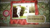 A003AE结婚婚庆精致电子相册模板AE爱情日记翻页浪漫相册模板