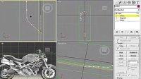 3dmax视频教程:摩托车3d模型的建立4