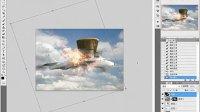 PS教程每日一教之超现实飞机失事特效