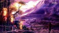 b145火苗紫色乡村精美动态背景视频