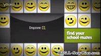 4月第4周更新-用AE制作笑脸符号翻转卡片动画
